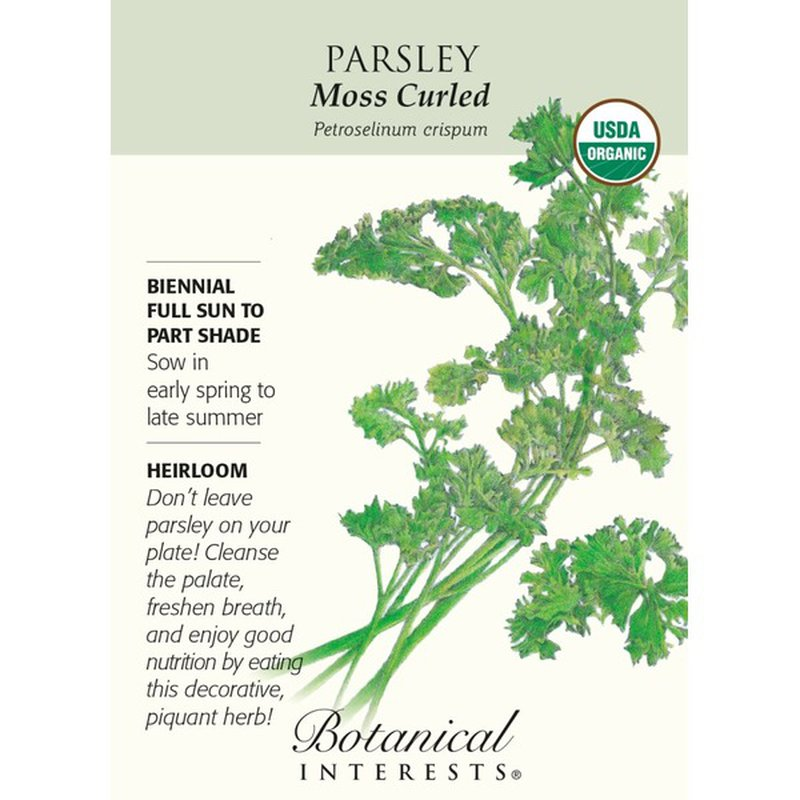 Botanical Interests Organic Moss Curled Parsley
