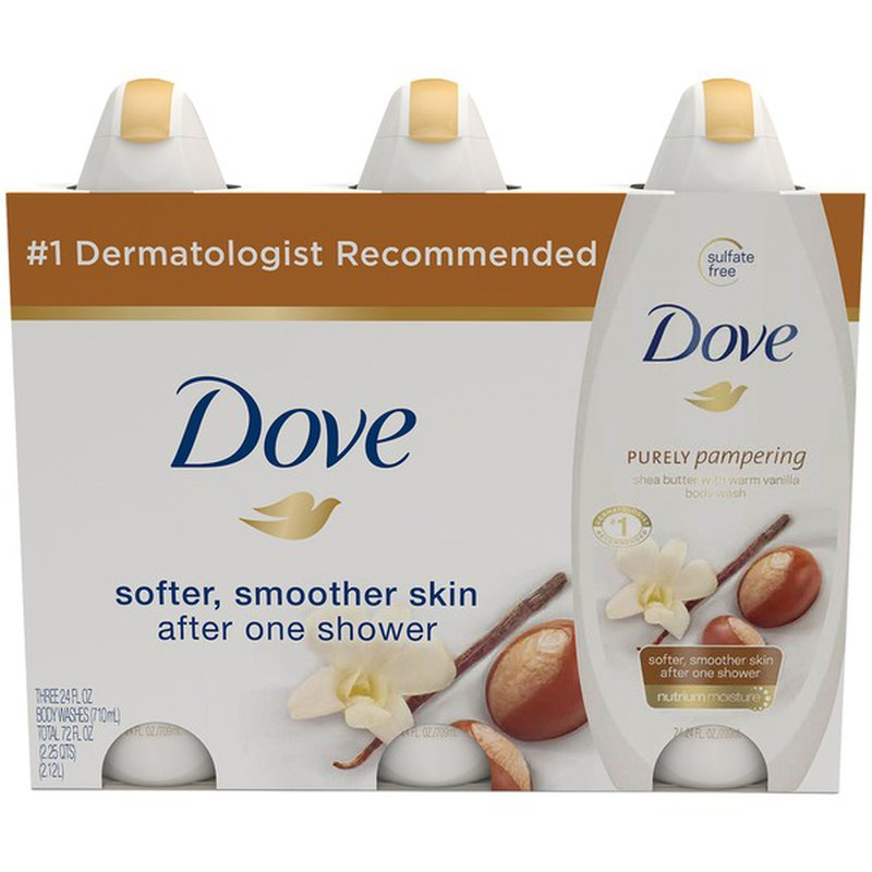 Dove Body Wash Shea Butter With Warm Vanilla 24 Oz Club Pack Instacart