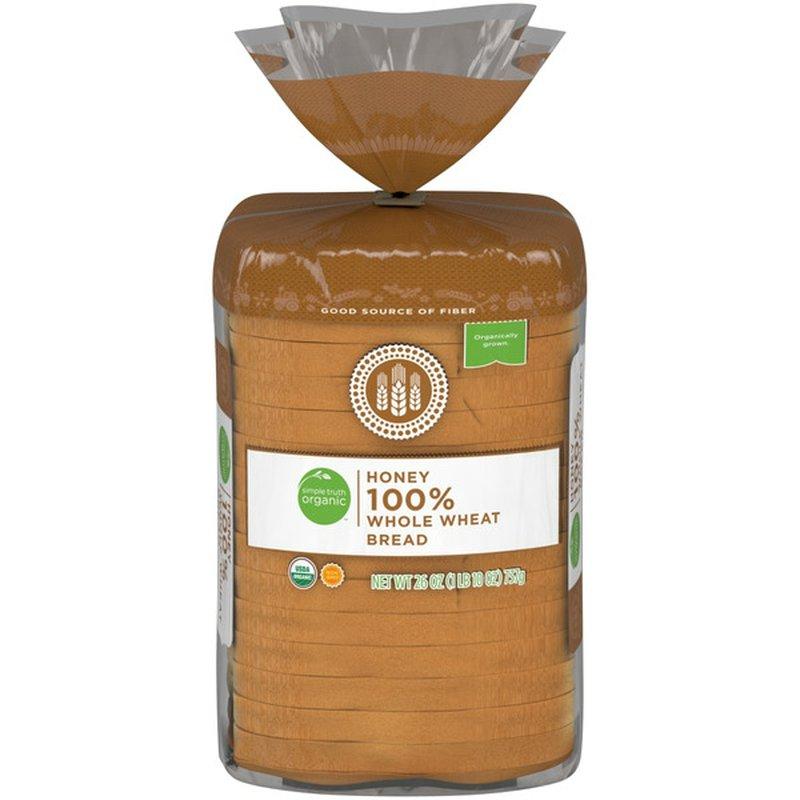 Simple Truth Organic Honey 100% Whole Wheat Bread