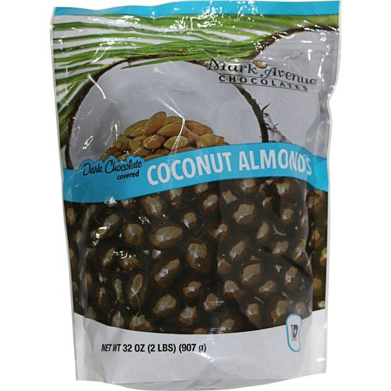 Mark Avenue Chocolates Dark Chocolate Covered Coconut Almonds