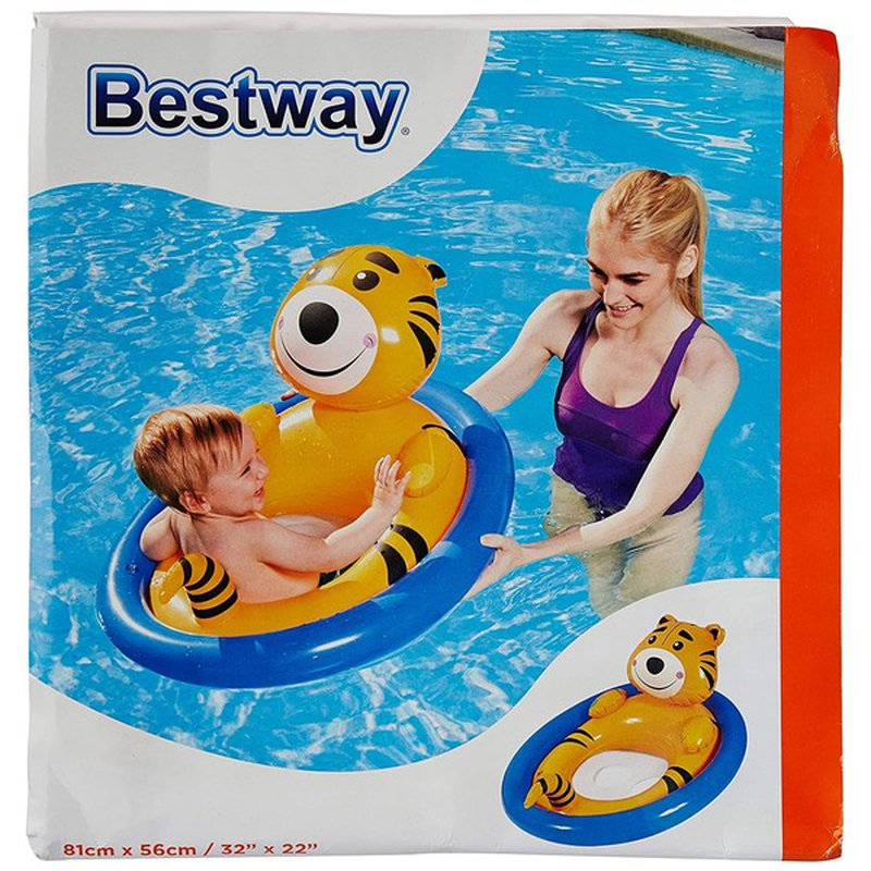 """Bestway Toys 32"""" x 22"""" H2ogo Lil' Animal Inflatable Pool Float"""