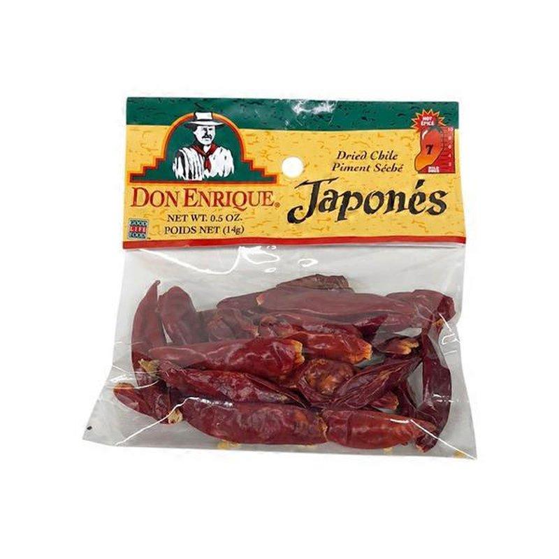 Don Enrique Chile Japones 0 5 Oz Instacart