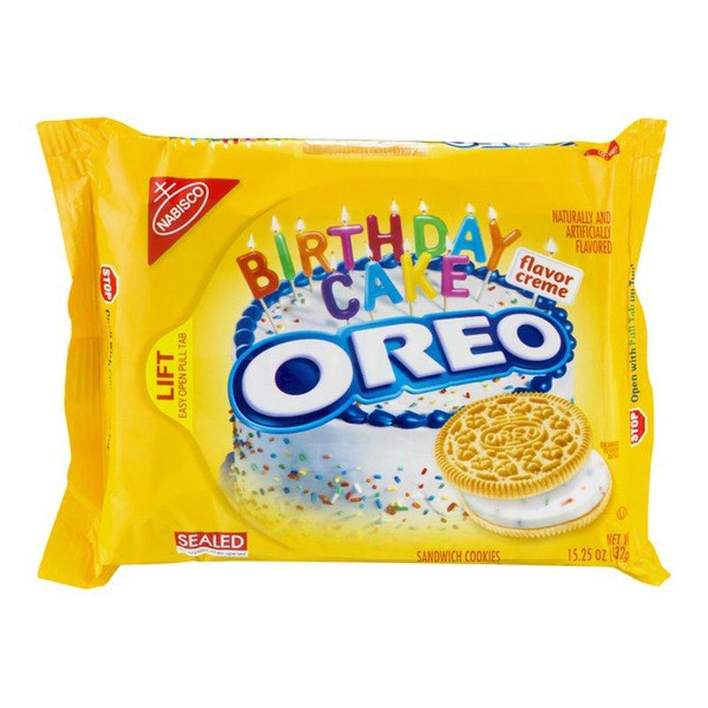 Brilliant Nabisco Oreo Birthday Cake Flavor Creme Golden Sandwich Cookies Personalised Birthday Cards Veneteletsinfo