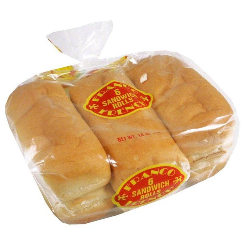 Franco Baking Company Sandwich Rolls