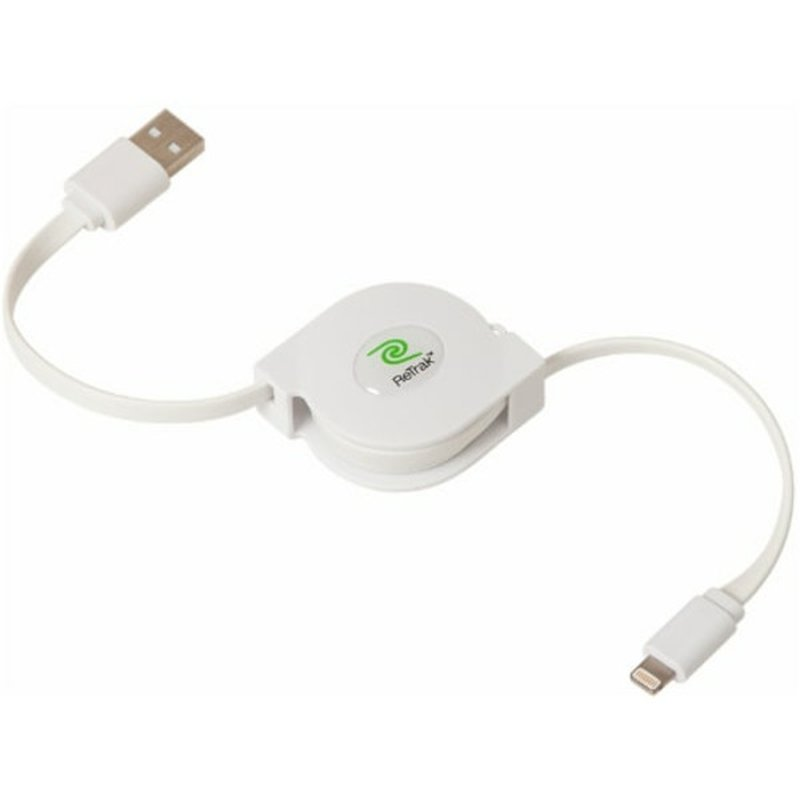 Retrak 3' Premiere Series Retractable Charge & Sync USB Cable With Lightning