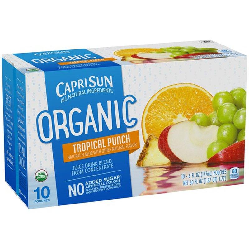 Capri Sun Organic Tropical Fruit Punch