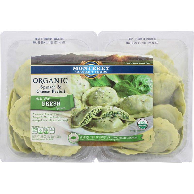 El Monterey Organic Fresh Spinach and Cheese Ravioli