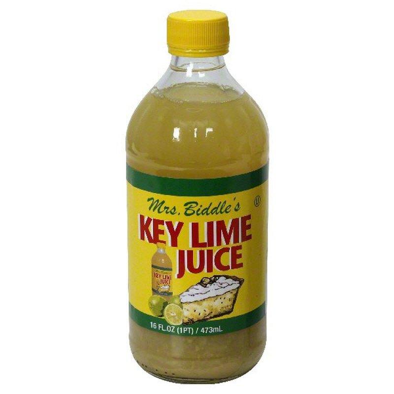 Mrs Biddles 100% Juice, Real Key Lime
