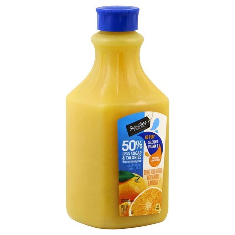 Signature Select 50% Less Sugar Orange Juice With Calcium & Vitamin D