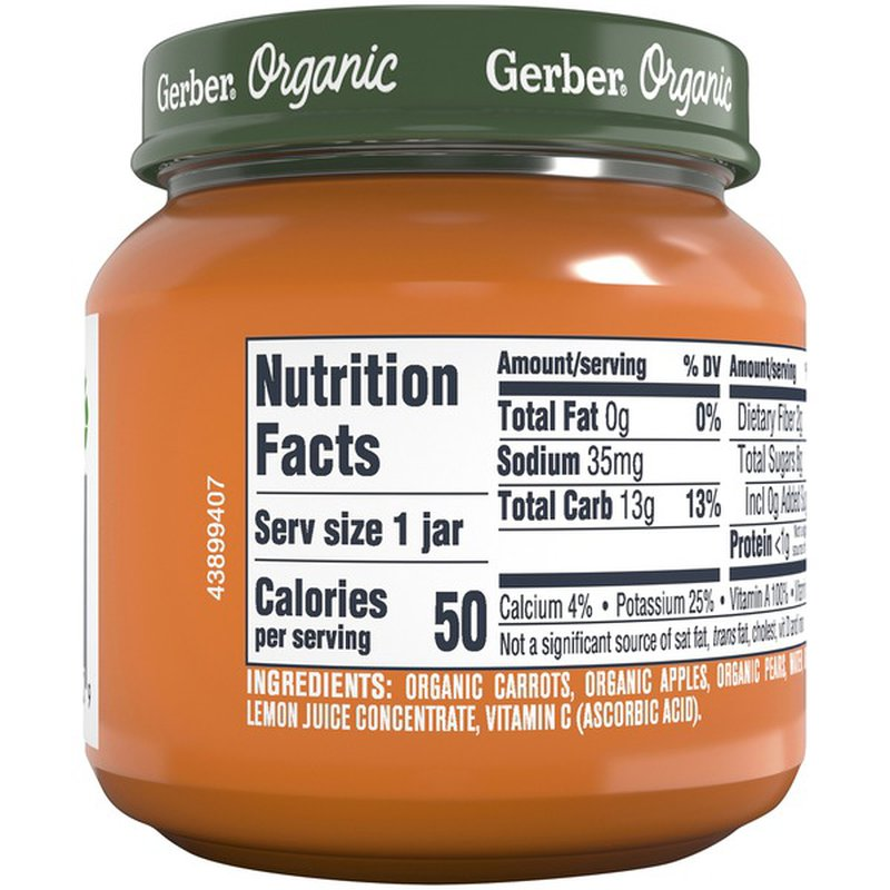 Gerber Organic Carrot Apple Pear Baby Food (4 oz) - Instacart