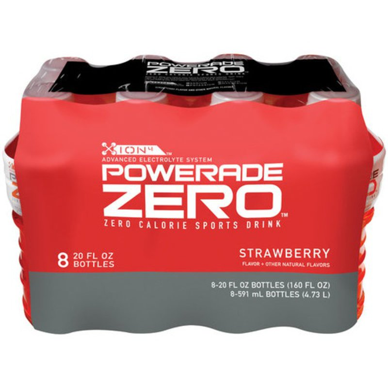 Powerade Zero Calorie Sports Drink + B Vitamins, Strawberry