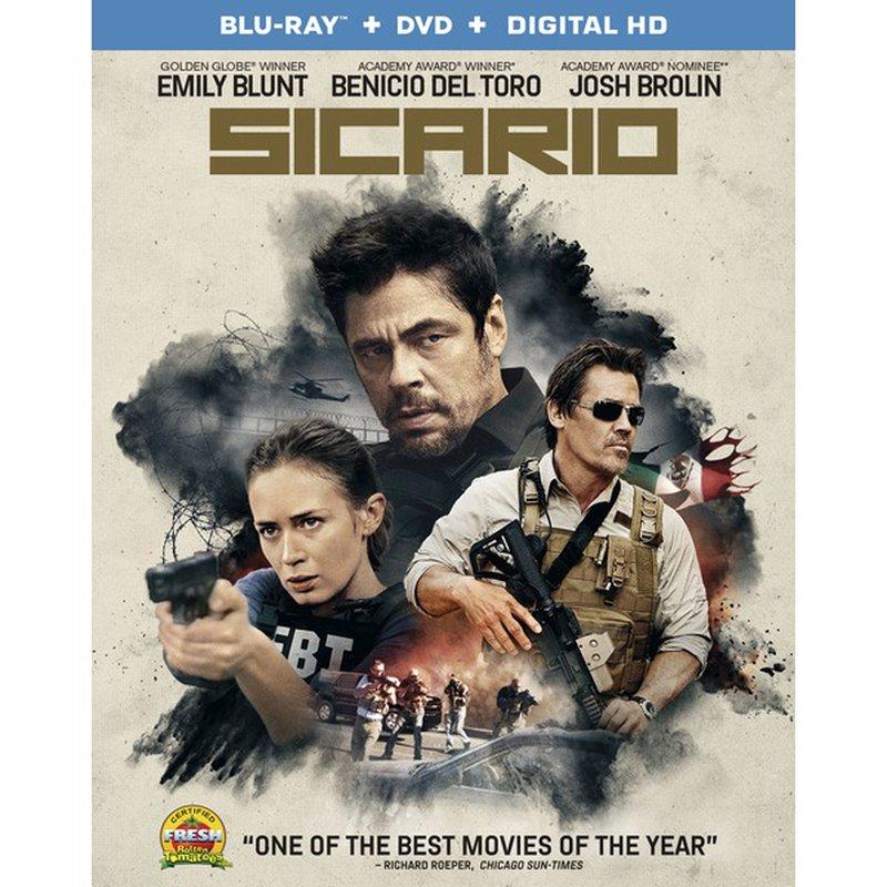 Lions Gate Entertainment Sicario Blu Ray DVD