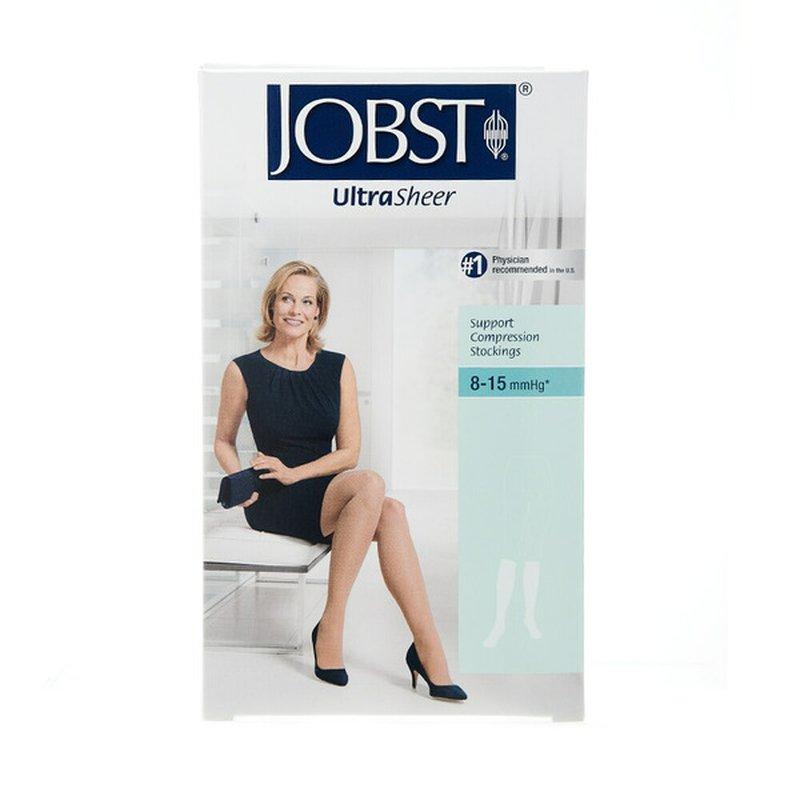 "Jobst Support Wear 4.5""- 6.5"" Extra Small Beige Silky Women's UltraSheer Knee High Support Stockings"