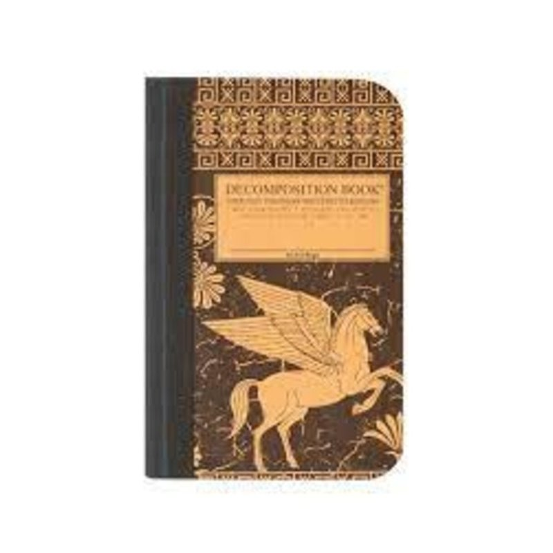 Michael Roger Incorporated Pegasus Pocket-Size Decomposition Book: College Ruled Composition Notebook With 100% Post-Consumer-Waste Recycled Pages