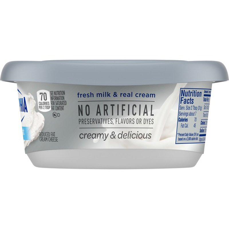 philadelphia plain reduced fat cream cheese spread 8 oz from stater bros  instacart