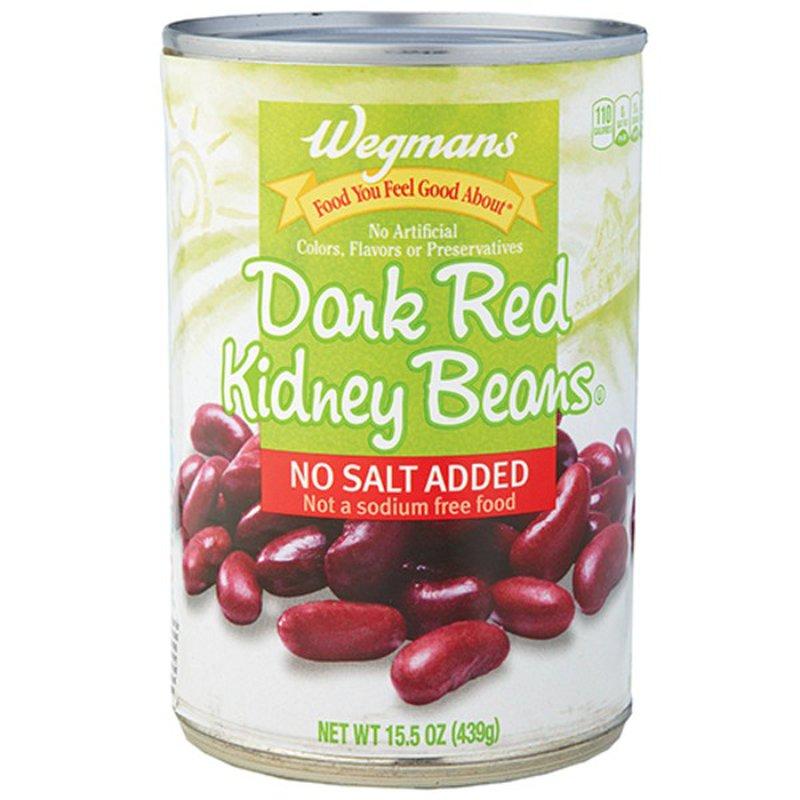 Wegmans Dark Red Kidney Beans No Salt Added 15 5 Oz Instacart