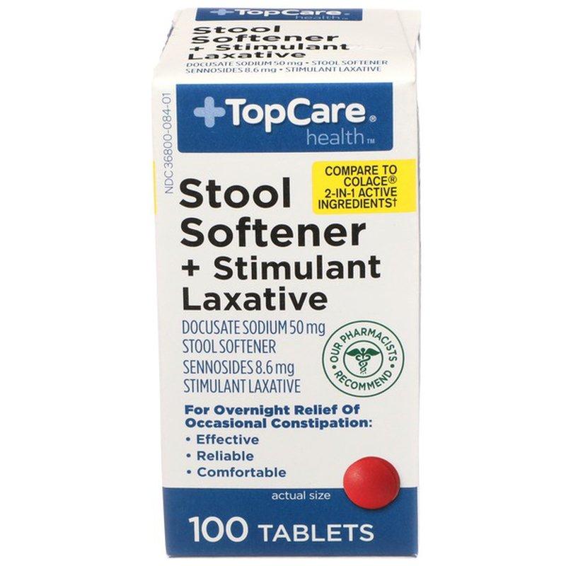 Top Care Stool Softener Docusate Sodium 50 Mg + Stimulant ...