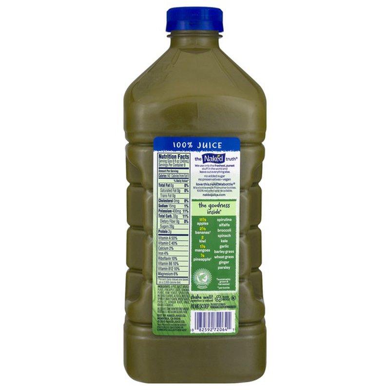Naked Juice Boosted Smoothie, Blue Machine, 64 oz Bottle