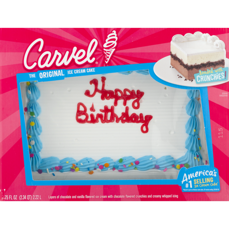 Terrific Carvel Ice Cream Cake 75 Fl Oz Instacart Funny Birthday Cards Online Necthendildamsfinfo