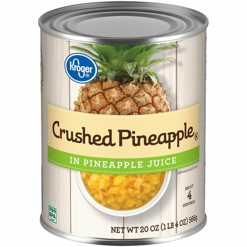 Kroger Crushed Pineapple, In Pineapple Juice