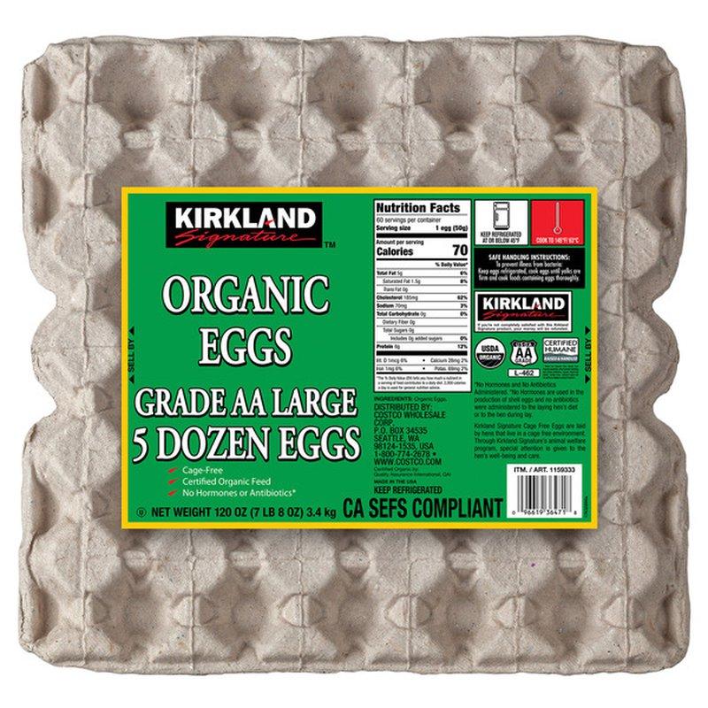 Kirkland Signature Organic Eggs, USDA Grade AA Large