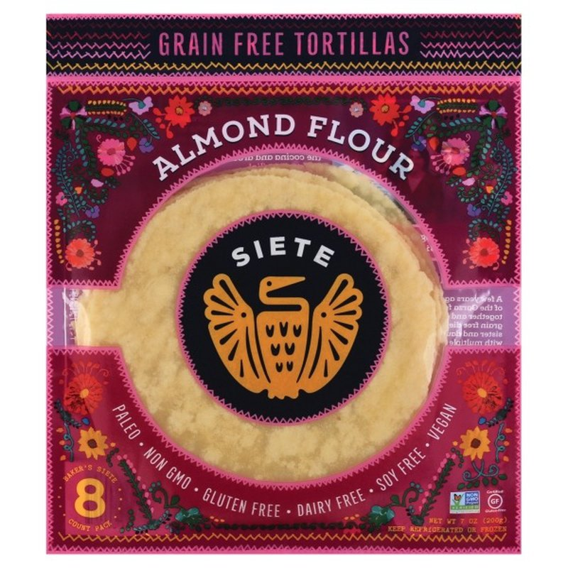 Siete Tortillas, Grain Free, Almond Flour