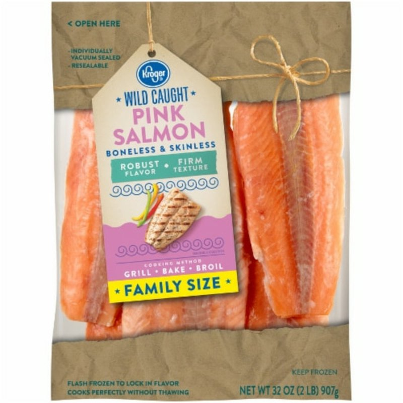 Kroger Wild Caught Boneless & Skinless Pink Salmon Fillets
