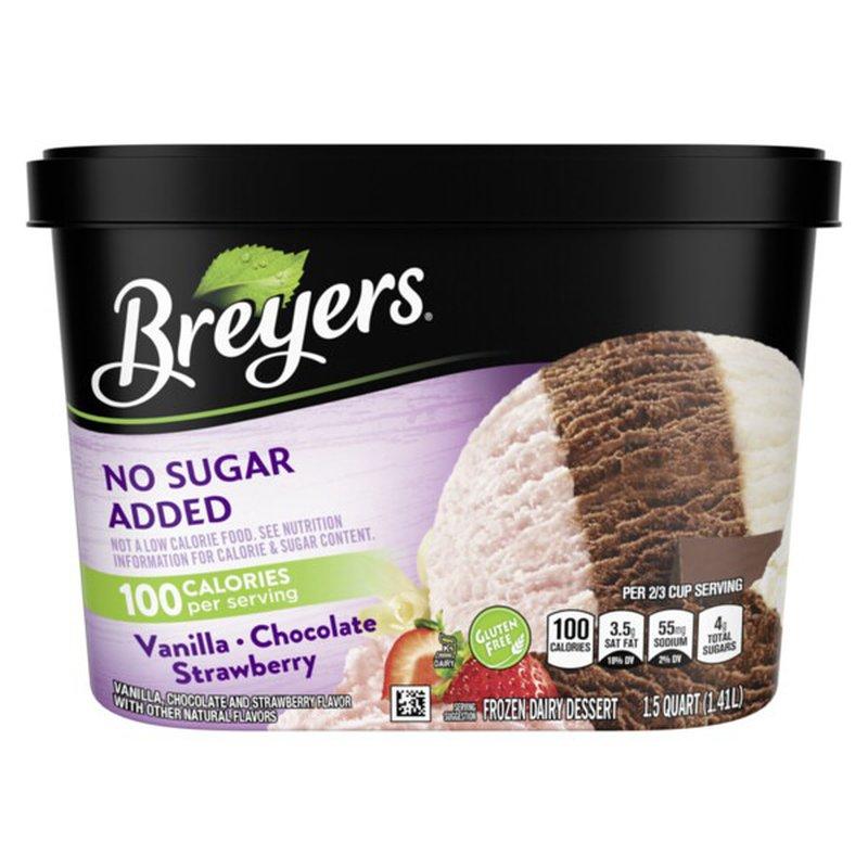 Breyers Frozen Dairy Dessert Vanilla Chocolate Strawberry