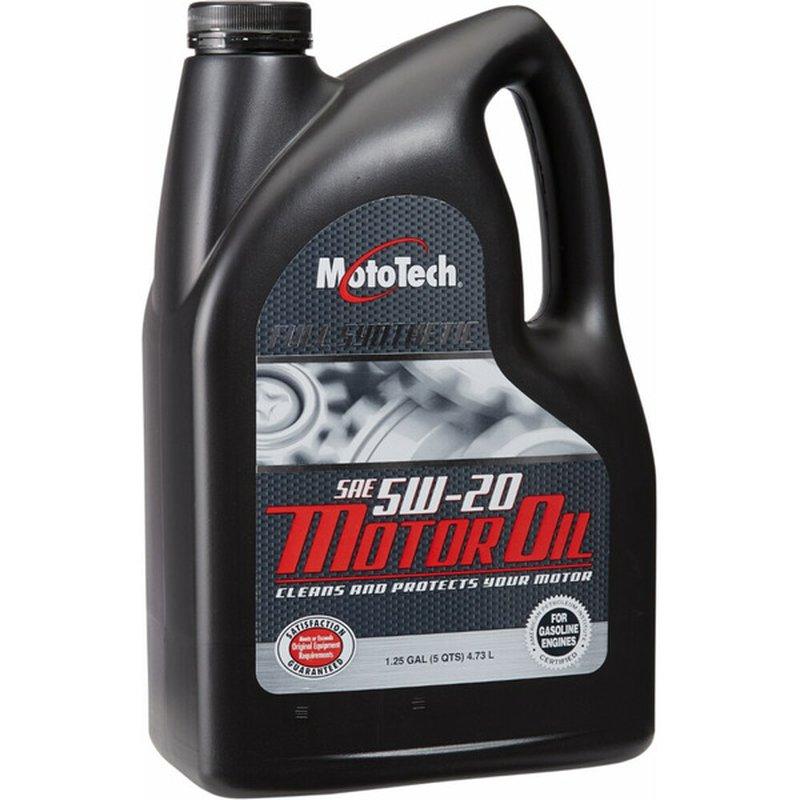 Moto Tech 5W-20 SAE Full Synthetic Motor Oil