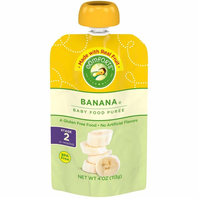 Comforts For Baby Purred Baby Food, Banana
