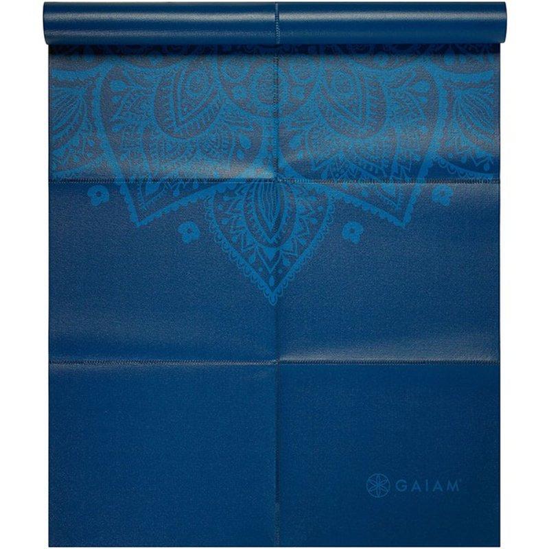 Gaiam 2 Mm Blue Sundial Foldable Yoga Mat