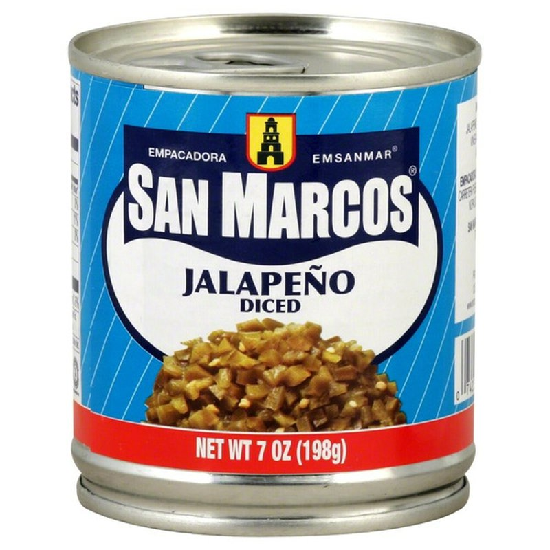 San Marcos Jalapeno Peppers, Diced