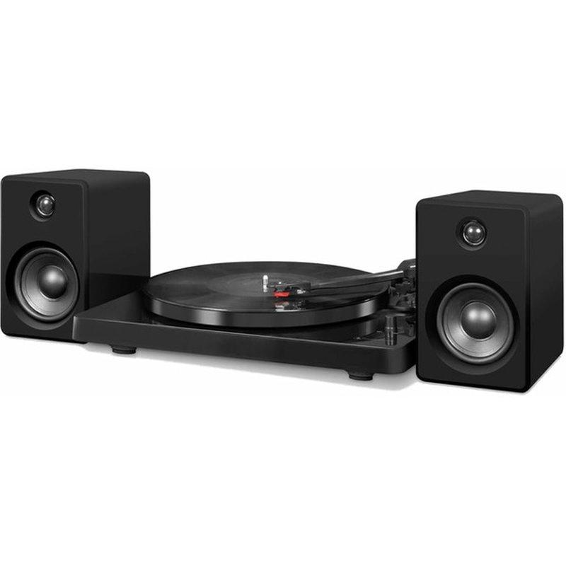 Crosley Black Bluetooth Speed Turntable System With Two 15-Watt Stereo Speakers