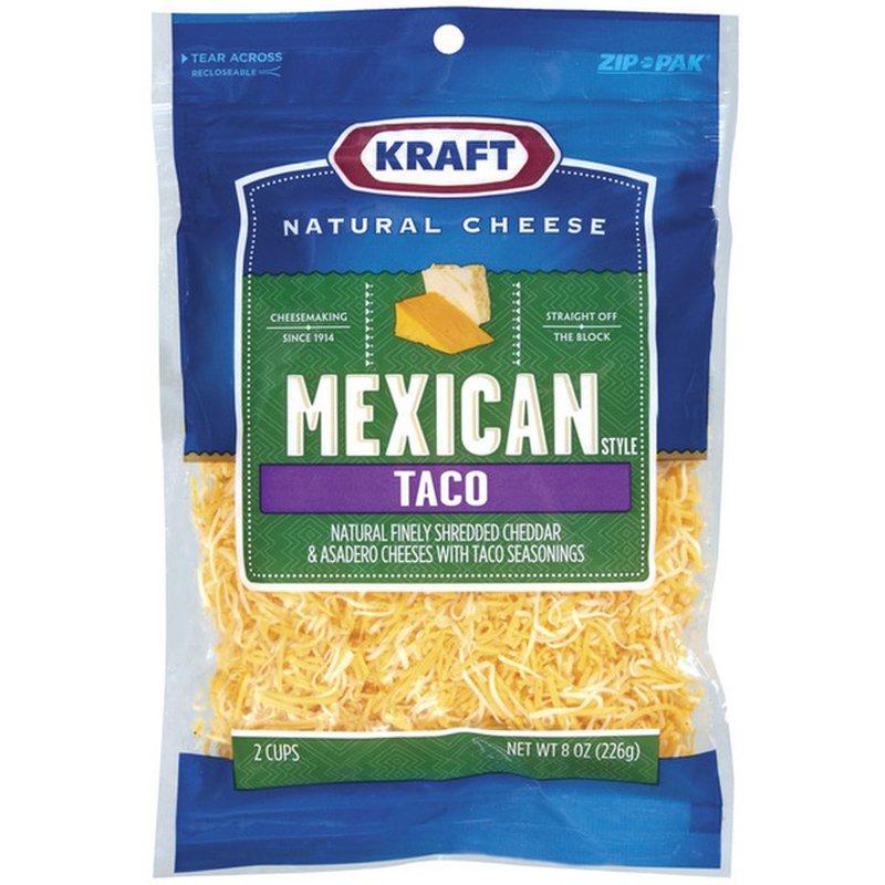 Kraft Mexican Style Taco Shredded Cheese