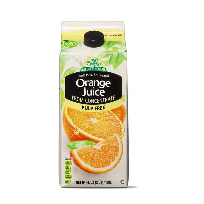 Nature's Nectar No Pulp Orange Juice From Concentrate