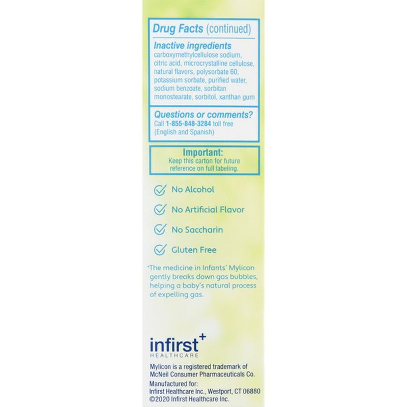 Infants Mylicon Gas Relief Dye Free Drops 1 Oz Instacart