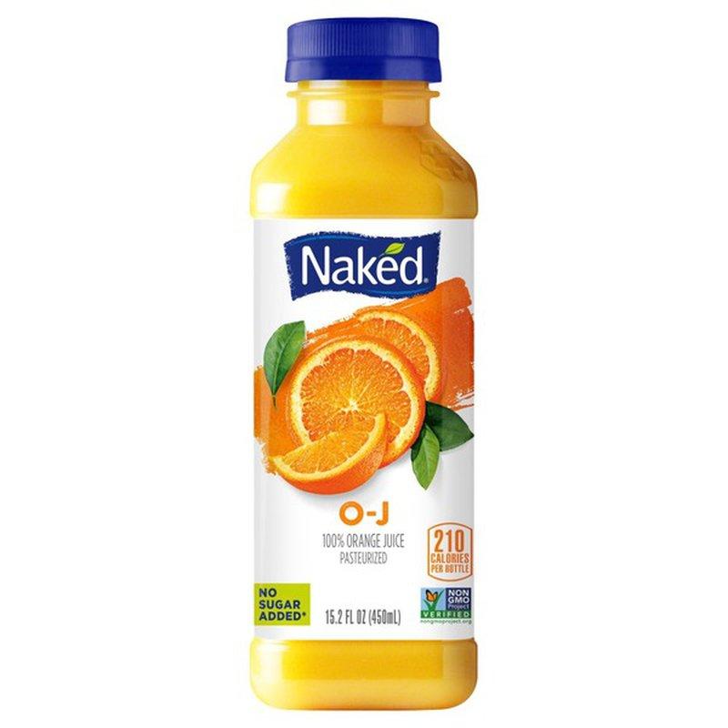 Naked Juice O-J 100% Orange Juice 15.2 fl. oz. Bottle