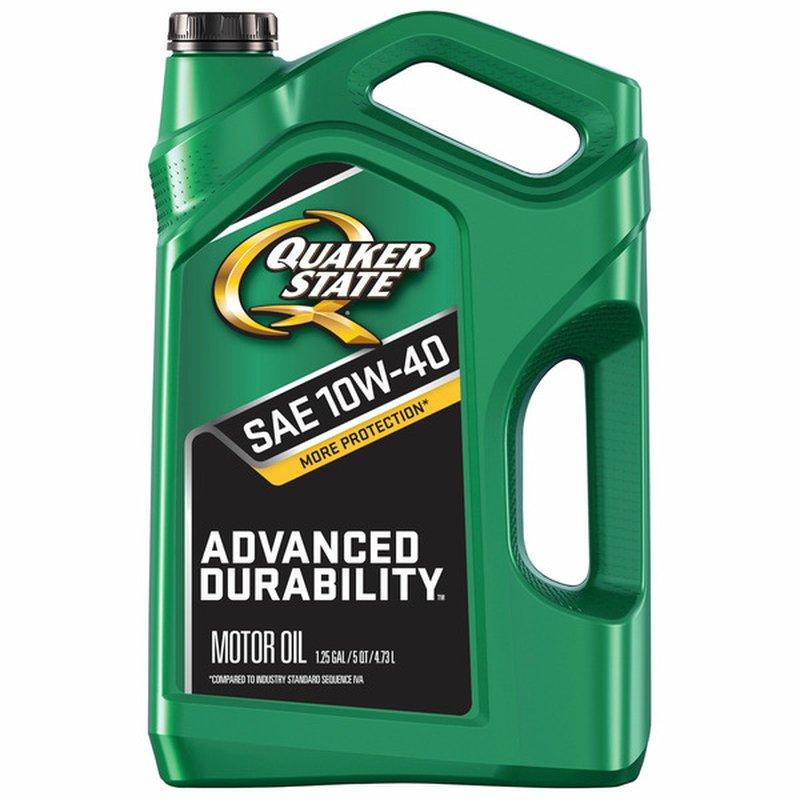 Quaker State Advanced Durability SAE 10W40 Motor Oil