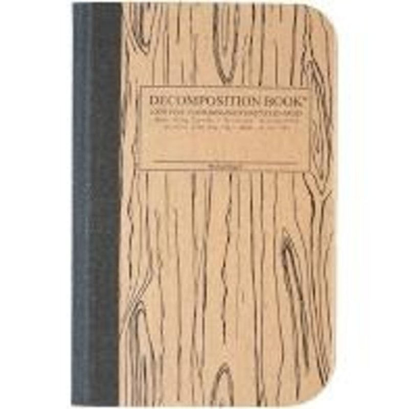 Decomposition Book Woodgrain Pocket-Size Decomposition Book : College-Ruled Composition Notebook With 100% Post-Consumer-Waste Recycled Pages