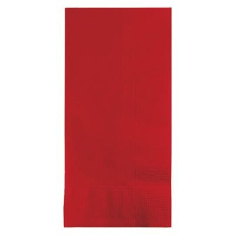 Touch of Color 2-Ply Red Dinner Napkins
