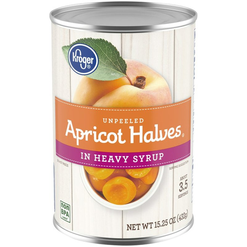 Kroger Unpeeled Apricot Halves in Heavy Syrup