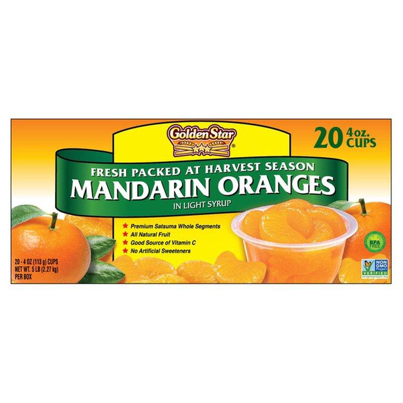 Golden Star Mandarin Orange Cups