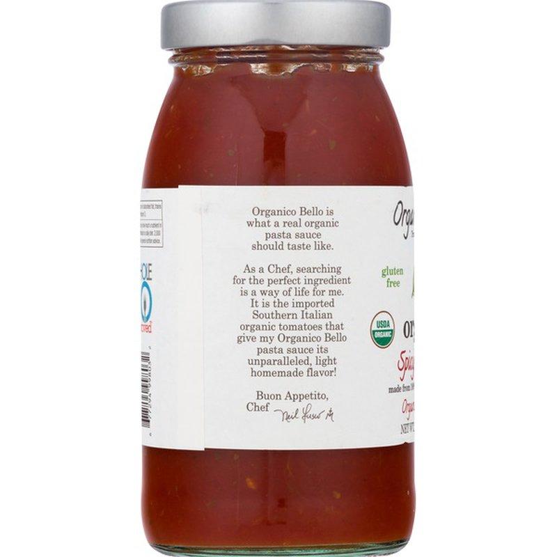 Organico Bello Pasta Sauce, Organic, Spicy Marinara