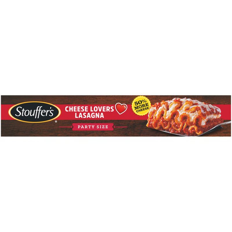 stouffer's party size cheese lovers lasagna frozen meal