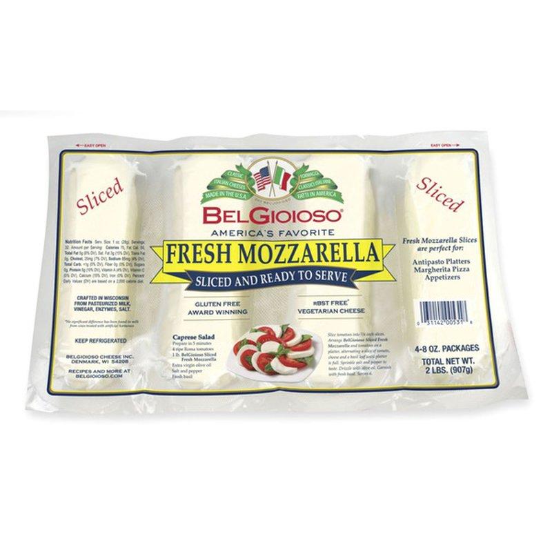 belgioioso cheese belgioioso sliced fresh mozzarella cheese log 48 oz 2 lb from bj's