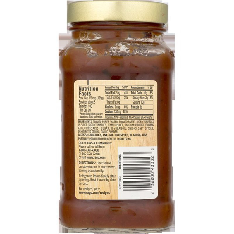 Ragu Pasta Sauce, Thick & Hearty Traditional (23 oz ...