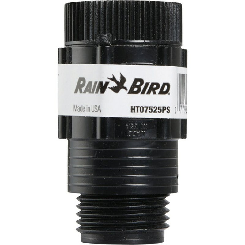 Rain Bird 0.75 Inch  Female Hose Thread 25 Psi Drip Irrigation Black Pressure Regulator