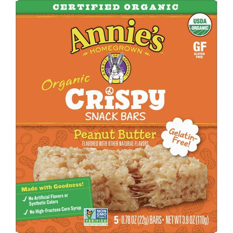 Annie's Organic Peanut Butter Snack Bar