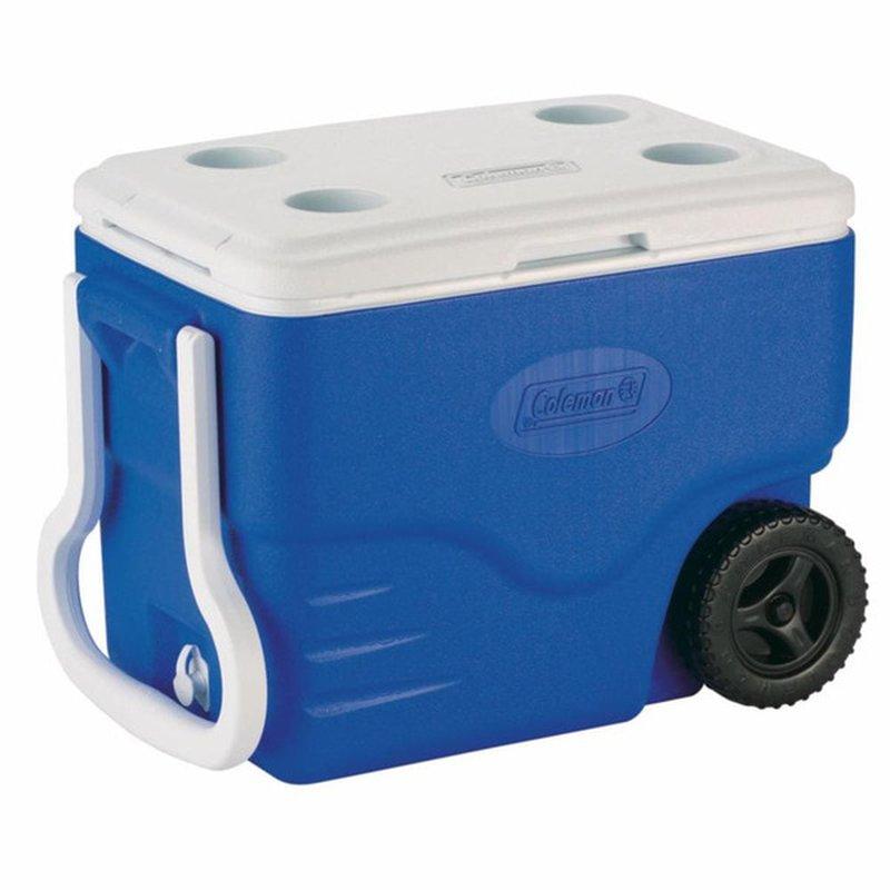 Coleman 40 Quart Blue Wheeled Cooler