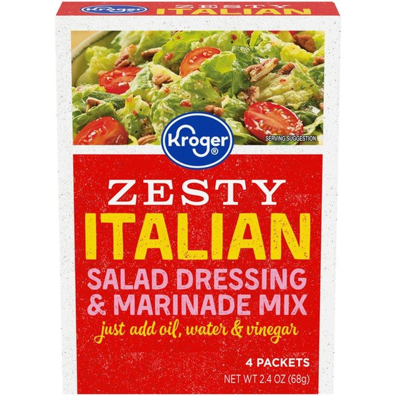 Kroger Salad Dressing & Marinade Mix, Zesty Italian
